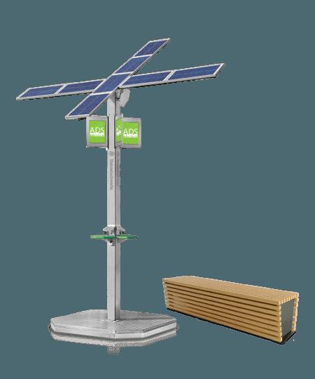 Hybrydowo -Solarna zielona ładowarka