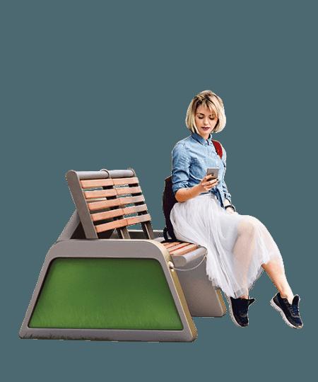 Solarna zielona ławka